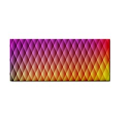 Triangle Plaid Chevron Wave Pink Purple Yellow Rainbow Cosmetic Storage Cases by Mariart