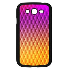 Triangle Plaid Chevron Wave Pink Purple Yellow Rainbow Samsung Galaxy Grand Duos I9082 Case (black) by Mariart
