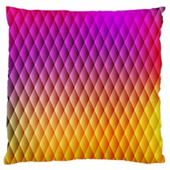 Triangle Plaid Chevron Wave Pink Purple Yellow Rainbow Standard Flano Cushion Case (one Side) by Mariart
