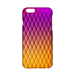 Triangle Plaid Chevron Wave Pink Purple Yellow Rainbow Apple Iphone 6/6s Hardshell Case by Mariart