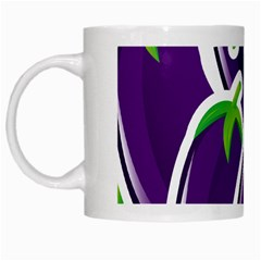 Vegetable Eggplant Purple Green White Mugs by Mariart