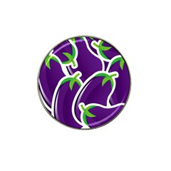 Vegetable Eggplant Purple Green Hat Clip Ball Marker (4 Pack) by Mariart