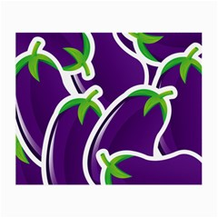 Vegetable Eggplant Purple Green Small Glasses Cloth by Mariart