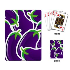 Vegetable Eggplant Purple Green Playing Card by Mariart