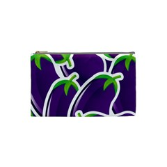 Vegetable Eggplant Purple Green Cosmetic Bag (small)  by Mariart