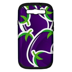 Vegetable Eggplant Purple Green Samsung Galaxy S Iii Hardshell Case (pc+silicone) by Mariart