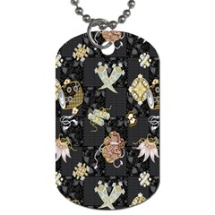 Traditional Music Drum Batik Dog Tag (two Sides) by Mariart