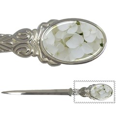 Hydrangea Flowers Blossom White Floral Photography Elegant Bridal Chic  Letter Openers by yoursparklingshop