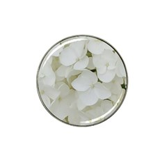 Hydrangea Flowers Blossom White Floral Photography Elegant Bridal Chic  Hat Clip Ball Marker (10 Pack) by yoursparklingshop