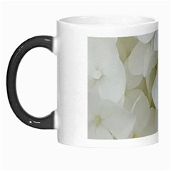 Hydrangea Flowers Blossom White Floral Photography Elegant Bridal Chic  Morph Mugs by yoursparklingshop