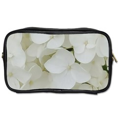 Hydrangea Flowers Blossom White Floral Photography Elegant Bridal Chic  Toiletries Bags 2 Side by yoursparklingshop