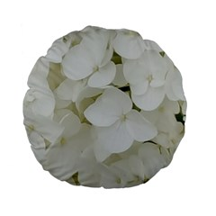 Hydrangea Flowers Blossom White Floral Photography Elegant Bridal Chic  Standard 15  Premium Flano Round Cushions by yoursparklingshop