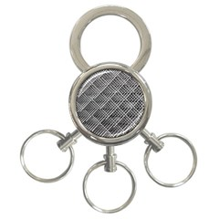 Pattern Metal Pipes Grid 3 Ring Key Chains by Nexatart