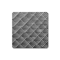 Pattern Metal Pipes Grid Square Magnet by Nexatart