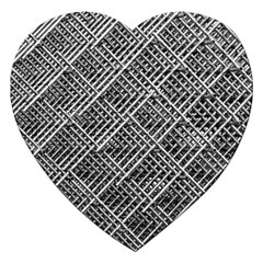 Pattern Metal Pipes Grid Jigsaw Puzzle (heart) by Nexatart