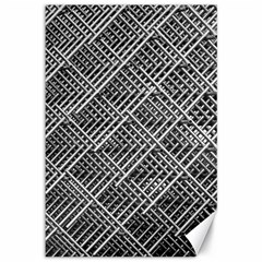 Pattern Metal Pipes Grid Canvas 12  X 18