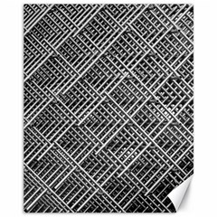 Pattern Metal Pipes Grid Canvas 11  X 14