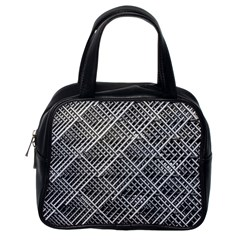 Pattern Metal Pipes Grid Classic Handbags (one Side)
