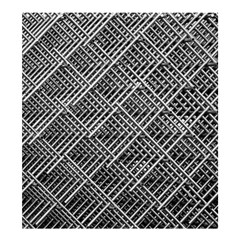 Pattern Metal Pipes Grid Shower Curtain 66  X 72  (large)  by Nexatart
