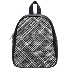 Pattern Metal Pipes Grid School Bags (small)  by Nexatart