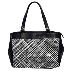 Pattern Metal Pipes Grid Office Handbags (2 Sides)  by Nexatart