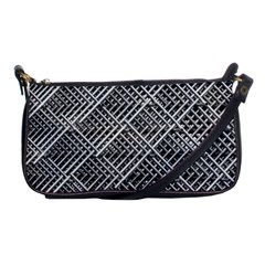 Pattern Metal Pipes Grid Shoulder Clutch Bags by Nexatart