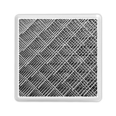 Pattern Metal Pipes Grid Memory Card Reader (square)  by Nexatart