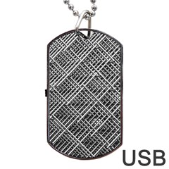 Pattern Metal Pipes Grid Dog Tag Usb Flash (two Sides)