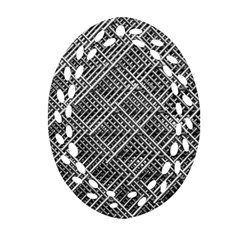 Pattern Metal Pipes Grid Oval Filigree Ornament (two Sides) by Nexatart