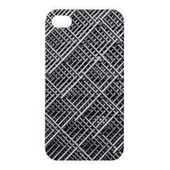 Pattern Metal Pipes Grid Apple Iphone 4/4s Premium Hardshell Case