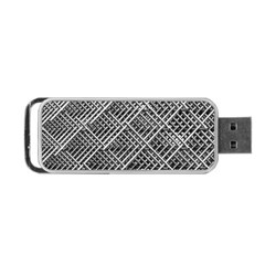 Pattern Metal Pipes Grid Portable Usb Flash (two Sides) by Nexatart