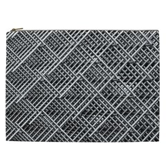 Pattern Metal Pipes Grid Cosmetic Bag (xxl)  by Nexatart