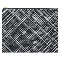 Pattern Metal Pipes Grid Cosmetic Bag (xxxl)  by Nexatart