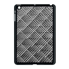 Pattern Metal Pipes Grid Apple Ipad Mini Case (black) by Nexatart