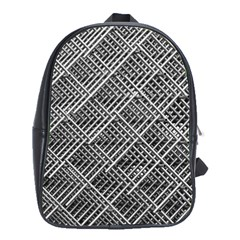 Pattern Metal Pipes Grid School Bags (xl)