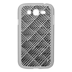 Pattern Metal Pipes Grid Samsung Galaxy Grand Duos I9082 Case (white) by Nexatart