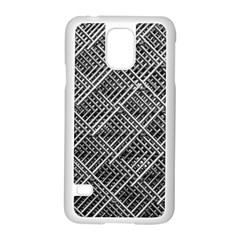 Pattern Metal Pipes Grid Samsung Galaxy S5 Case (white) by Nexatart