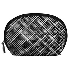 Pattern Metal Pipes Grid Accessory Pouches (large)