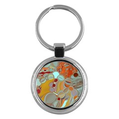 Liquid Bubbles Key Chains (round)  by theunrulyartist