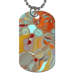 Liquid Bubbles Dog Tag (one Side) by theunrulyartist