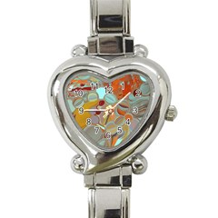 Liquid Bubbles Heart Italian Charm Watch by theunrulyartist