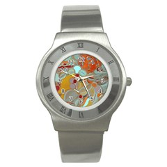 Liquid Bubbles Stainless Steel Watch by theunrulyartist