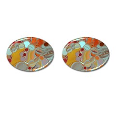 Liquid Bubbles Cufflinks (oval) by theunrulyartist