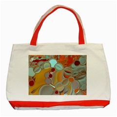 Liquid Bubbles Classic Tote Bag (red) by digitaldivadesigns
