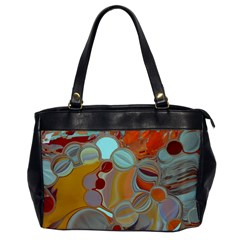 Liquid Bubbles Office Handbags by theunrulyartist