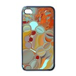 Liquid Bubbles Apple iPhone 4 Case (Black)