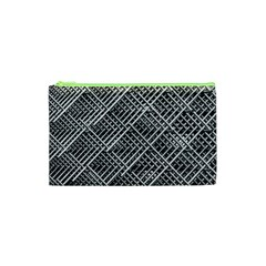 Pattern Metal Pipes Grid Cosmetic Bag (xs) by Nexatart