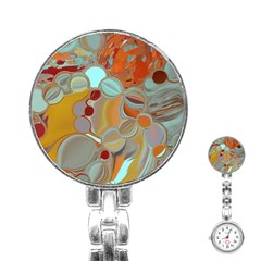 Liquid Bubbles Stainless Steel Nurses Watch by theunrulyartist