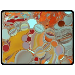 Liquid Bubbles Double Sided Fleece Blanket (large)  by theunrulyartist