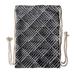 Pattern Metal Pipes Grid Drawstring Bag (large) by Nexatart